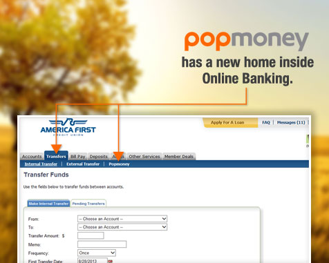 Popmoney- America First Credit Union